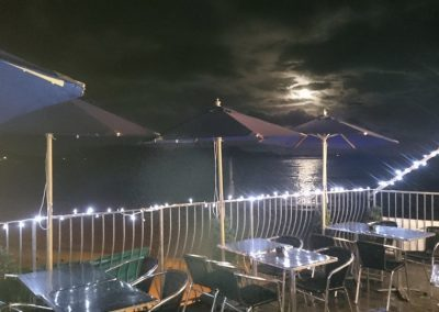 Night time at Lyme Bay Pizza